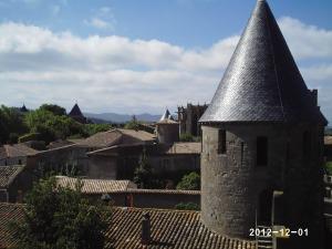 Vue depuis le château comtal de Carcassonne.