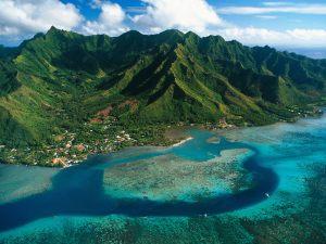 Ïle de Moorea, Polynésie française.